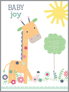 Baby Joy Giraffe Enclosure Card