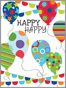 Happy Happy Balloons Enclosure Card