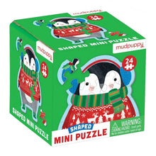 Load image into Gallery viewer, 24 PC Mini Winter Penguin Puzzle