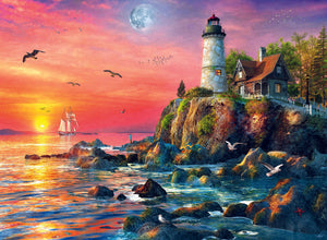 500 PC Lighthouse At Sunset Puzzle