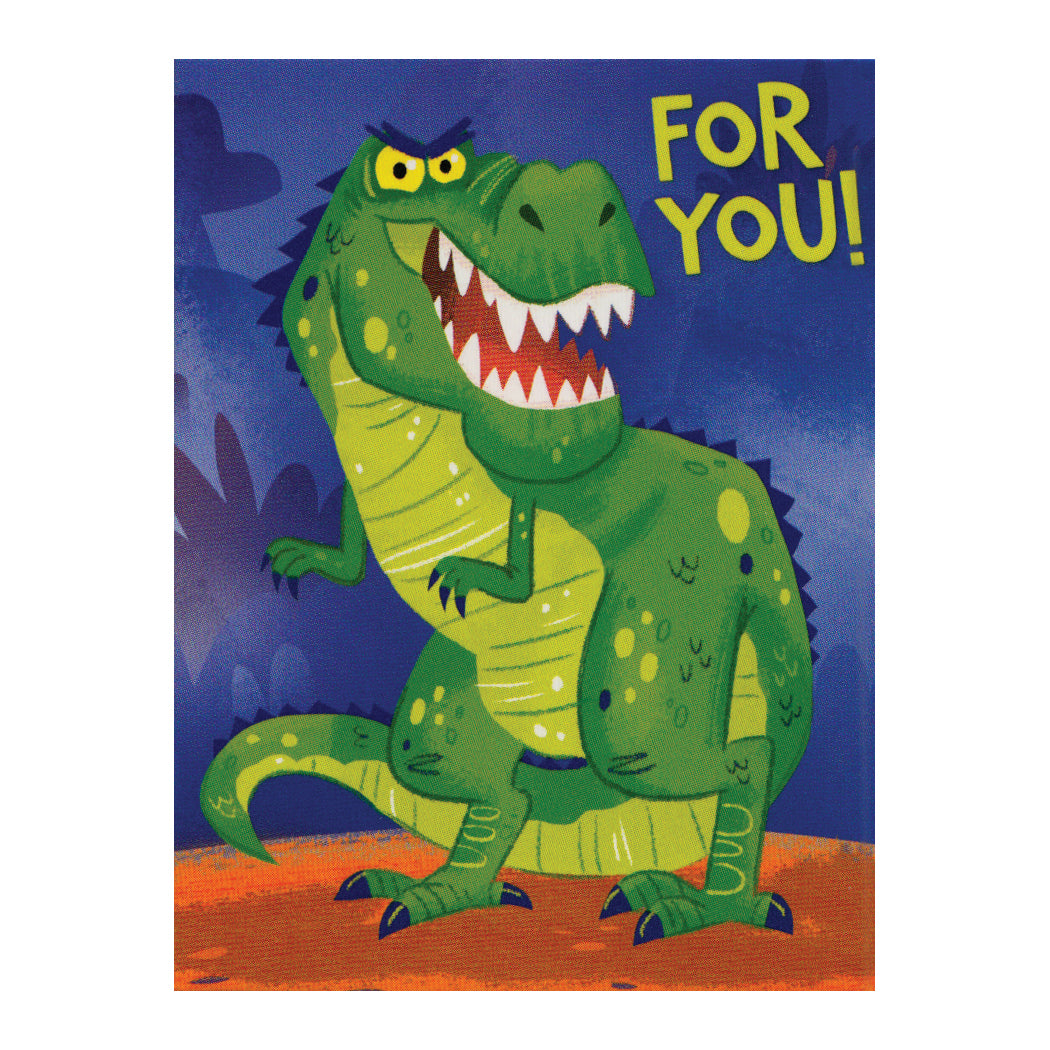 Dinosaur For You Enclosure Card