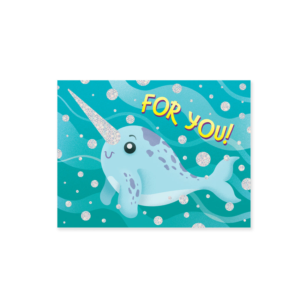 Narwhal For You Enclosure Card