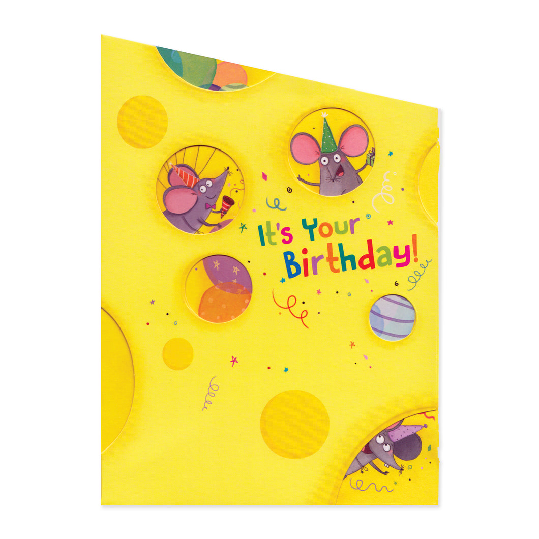 Mice With Cheese Birthday Card