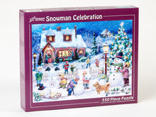 Load image into Gallery viewer, 550 PC Snowman Celebration Puzzle