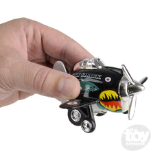 "Load image into Gallery viewer, 3.5"" Die Cast Pull Back Sky Shark Plane"