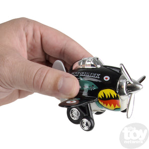"3.5"" Die Cast Pull Back Sky Shark Plane"