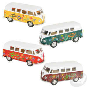 "5"" Die Cast Volkswagen Flower Power Bus"