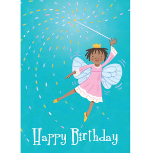 Little Fairy With Wand Card
