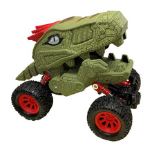 Load image into Gallery viewer, Pull Back 4 Wheel Dinosaur Truck