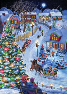 Sleigh Ride Through Town Mini Advent Calendar