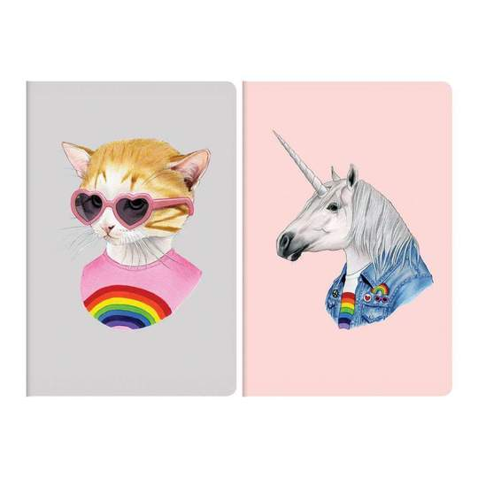 Animal Portraits Mini Notebook Sets