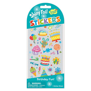 Birthday Fun Shiny Foil Sticker Pack