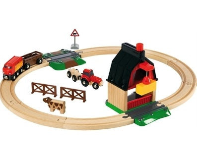 Brio Farm Train Set
