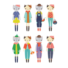 Load image into Gallery viewer, Cat Fashion Magnetic Dress Up Tin