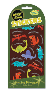 Glowing Dinosaurs Glow In The Dark Sticker Pack