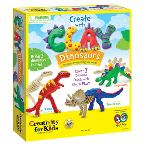 Create With Clay Dinosaurs