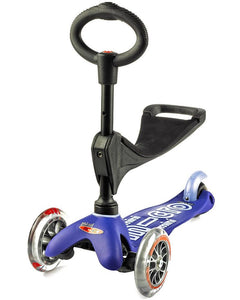 Blue 3in1 Micro Kickboard Deluxe Scooter
