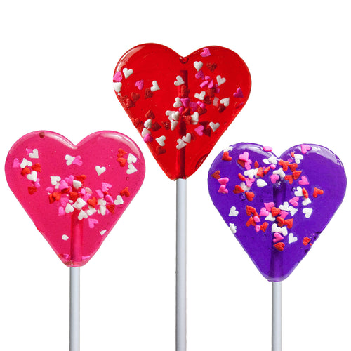 Mini Confetti Heart Lollipop