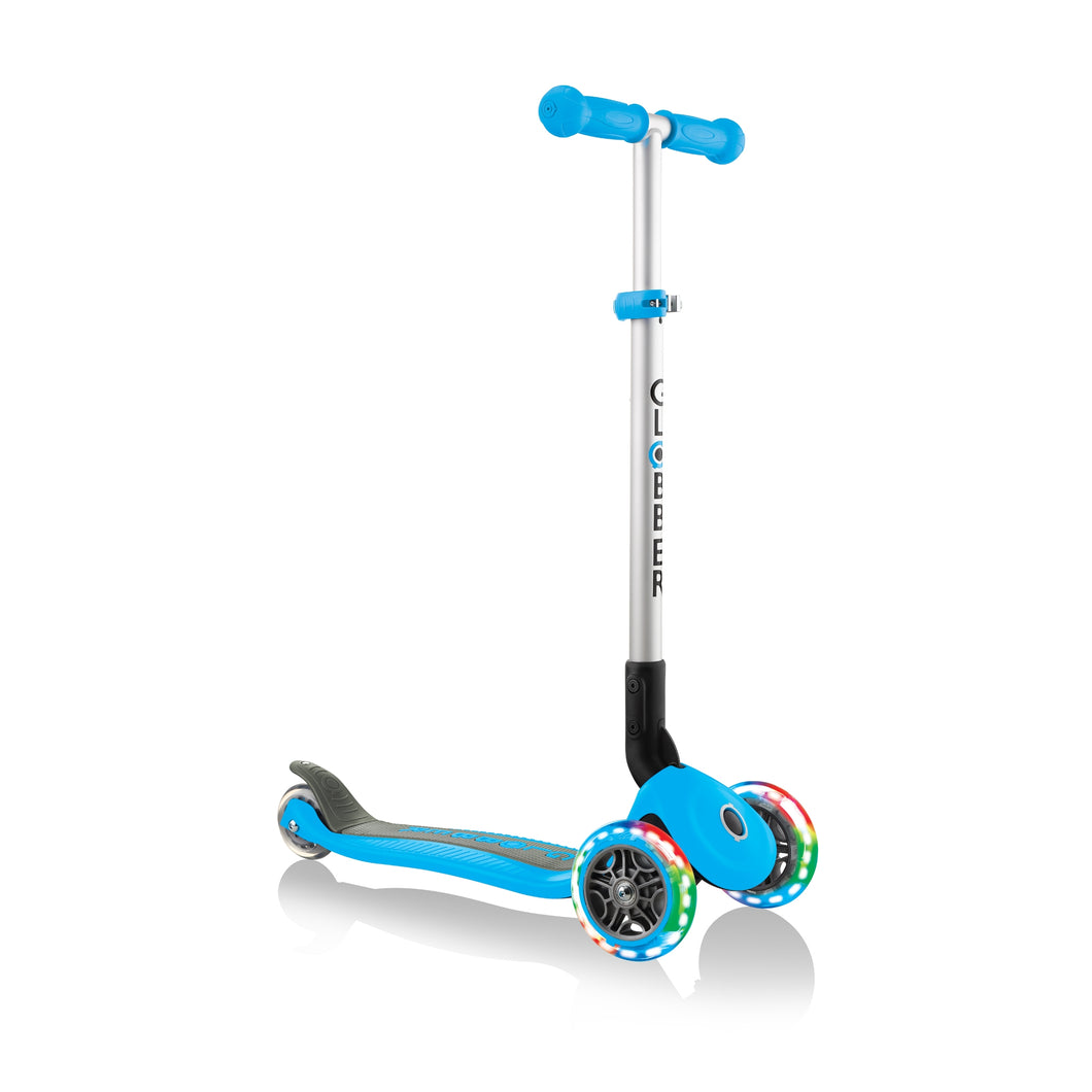 Sky Blue Primo Foldable Scooter With Lights