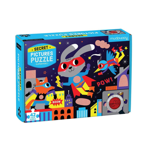 42 PC Superhero Secret Pictures Puzzle