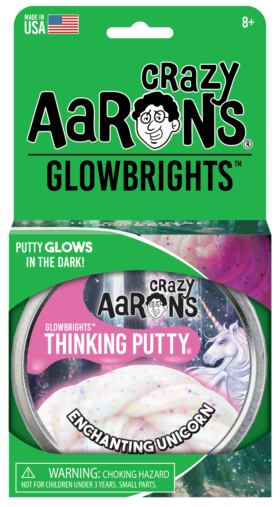 Enchanting Unicorn Glowbrights Putty Tin