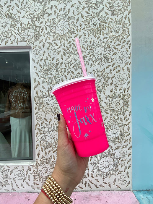 Hot Pink Reusable Solo Cup