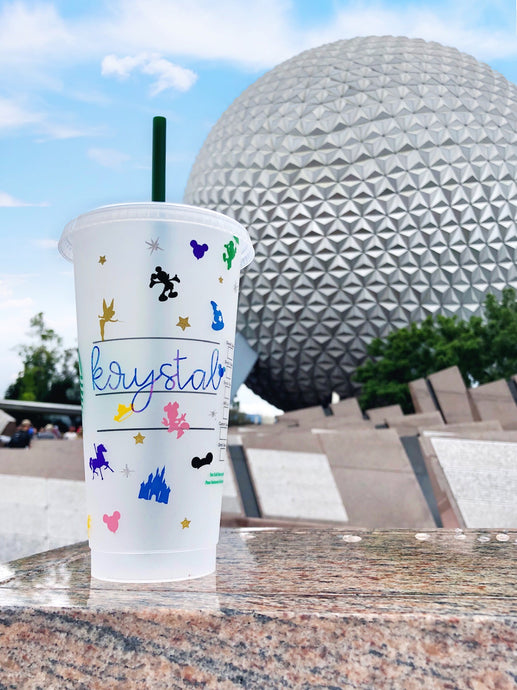 Personalized Disney Parks Inspired *Starbucks Cold Cups*