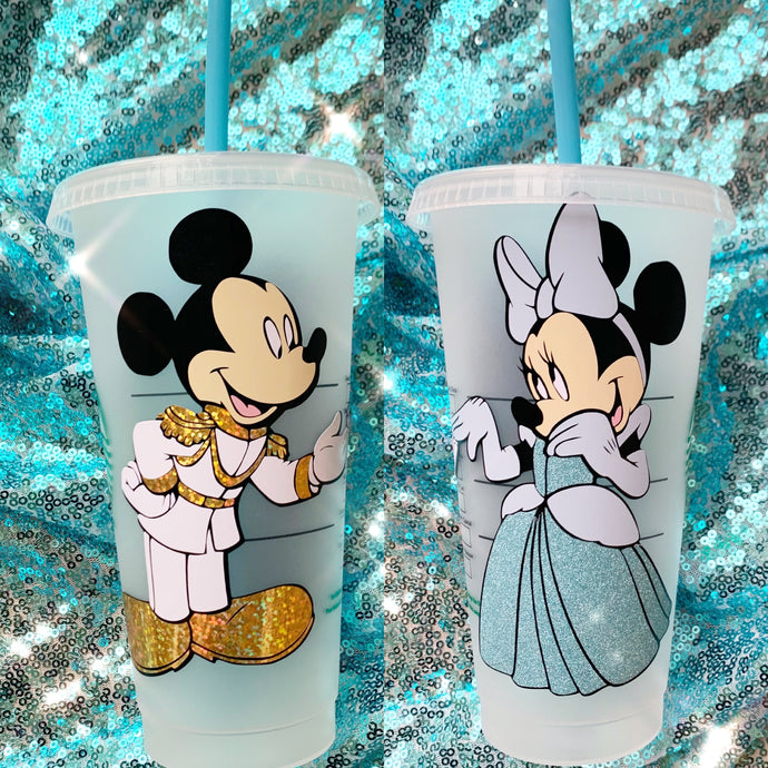 Minnie/Mickey dresses as Cinderella/Prince Charming