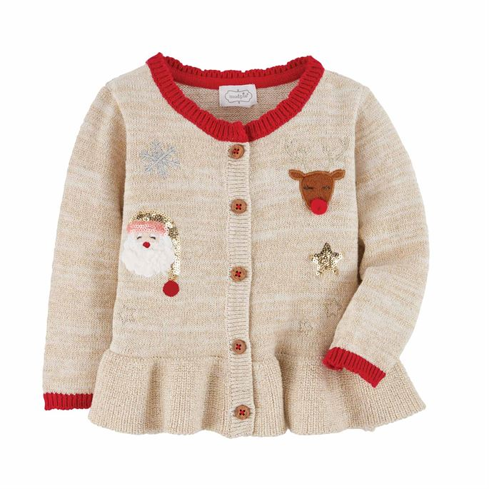 GIRL INFANT CHRISTMAS CARDIGAN