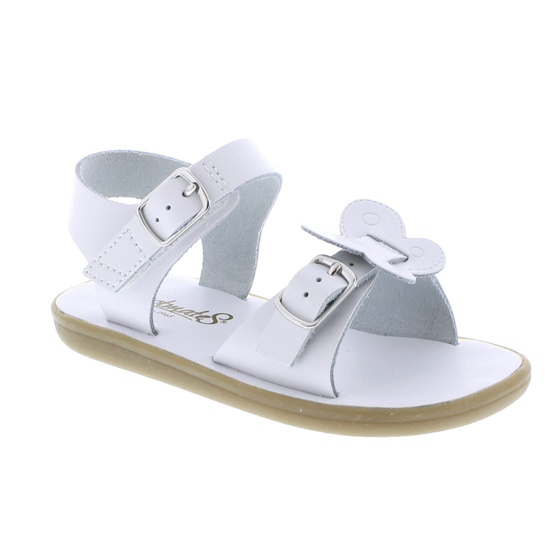 FOOTMATES MONARCH WHITE SANDALS