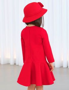 ABEL AND LULA RED KNIT DRESS (5-12Y)