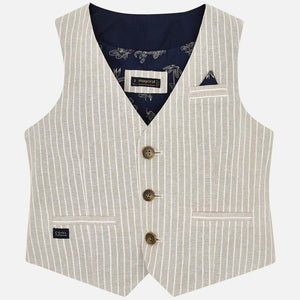 MAYORAL TAILORED LINEN VEST