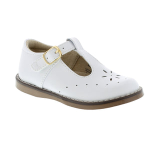 FOOTMATES SHERRY T-STRAP WHITE SHOES