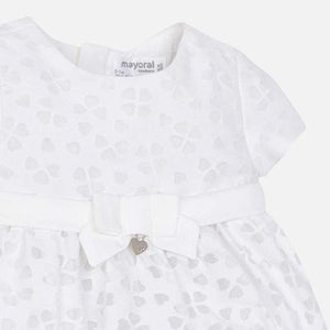 MAYORAL BABY GIRL WHITE FLORAL DRESS