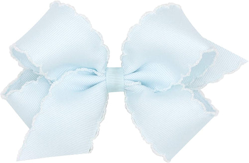 KING MOONSTITCHED CROSSGRAIN HAIR BOW - SOLID COLORS