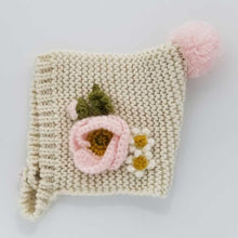 Load image into Gallery viewer, HUGGALUGS NATURAL POPPY BONNET