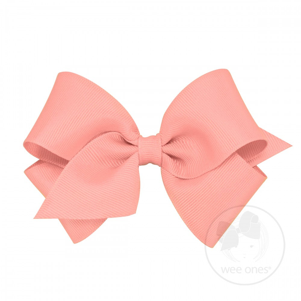 CLASSIC CROSSGRAIN HAIRBOW - CORAL