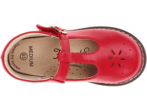 FOOTMATES SHERRY T STRAP APPLE RED