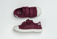 Load image into Gallery viewer, CHUS BLAKE RUN BORDEAUXMade of Organic Cotton 100% rubber sole Easy to put on! Lightweight and comfortable CHUS run small. Size up if in between sizes!