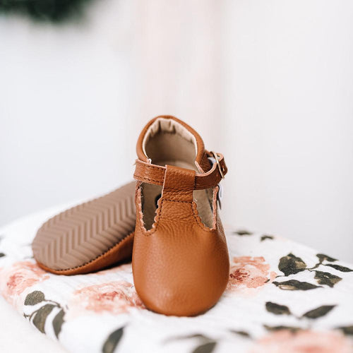 LITTLE LOVE BUG'S PECAN T BAR MARY JANE SHOES