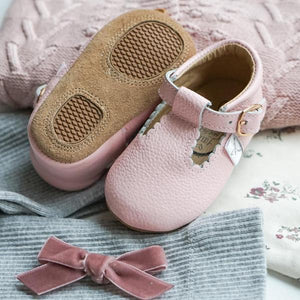 PINK T-BAR MOCCASIN