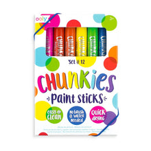 Load image into Gallery viewer, OOLY CHUNKIES PAINT STICKS SET OF 12