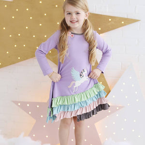 LEMON LOVES GIRL DREAMY UNICORN DRESS