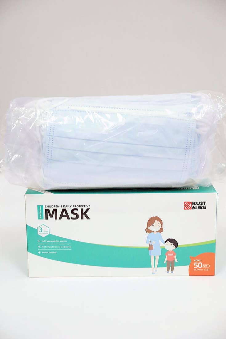 CHILDREN'S DISPOSABLE FACE MASK - BLUE