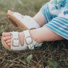 BABY CHARLY SANDALS- LEATHER-WHITE-BROWN