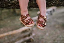 Load image into Gallery viewer, BABY CHARLY SANDALS- LEATHER-WHITE-BROWN