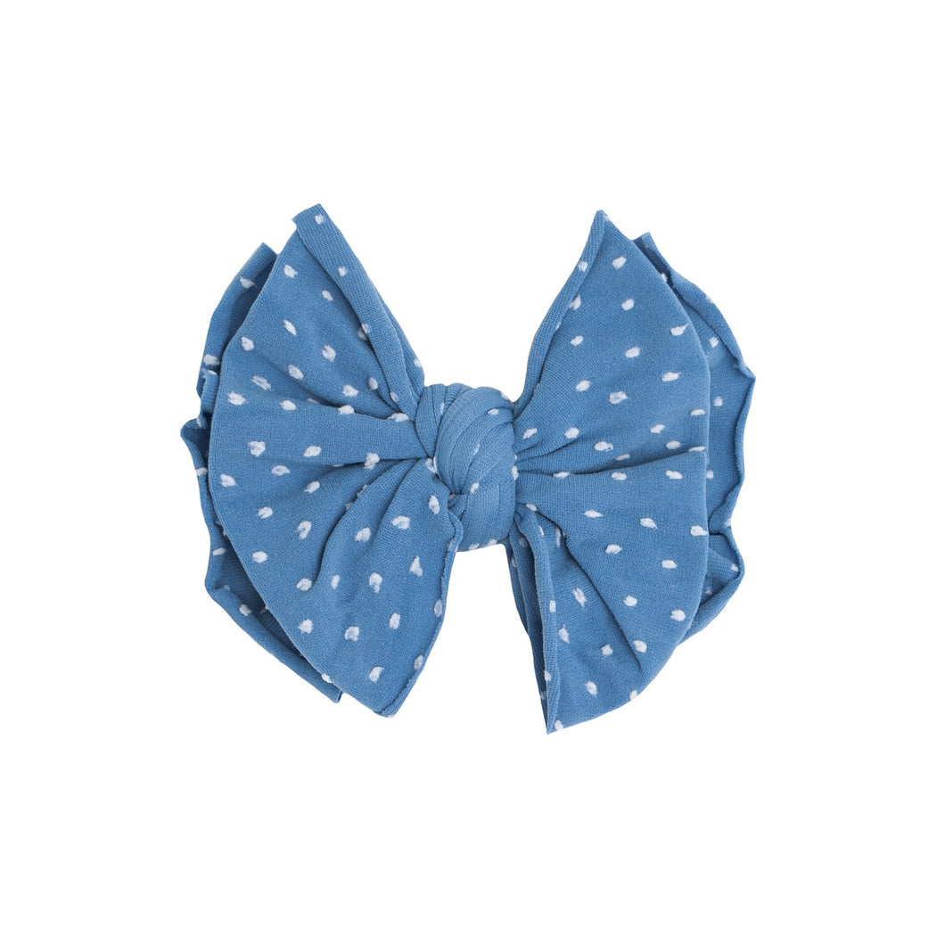 SHAB-BOW-LOUS CLIP     DENIM DOT