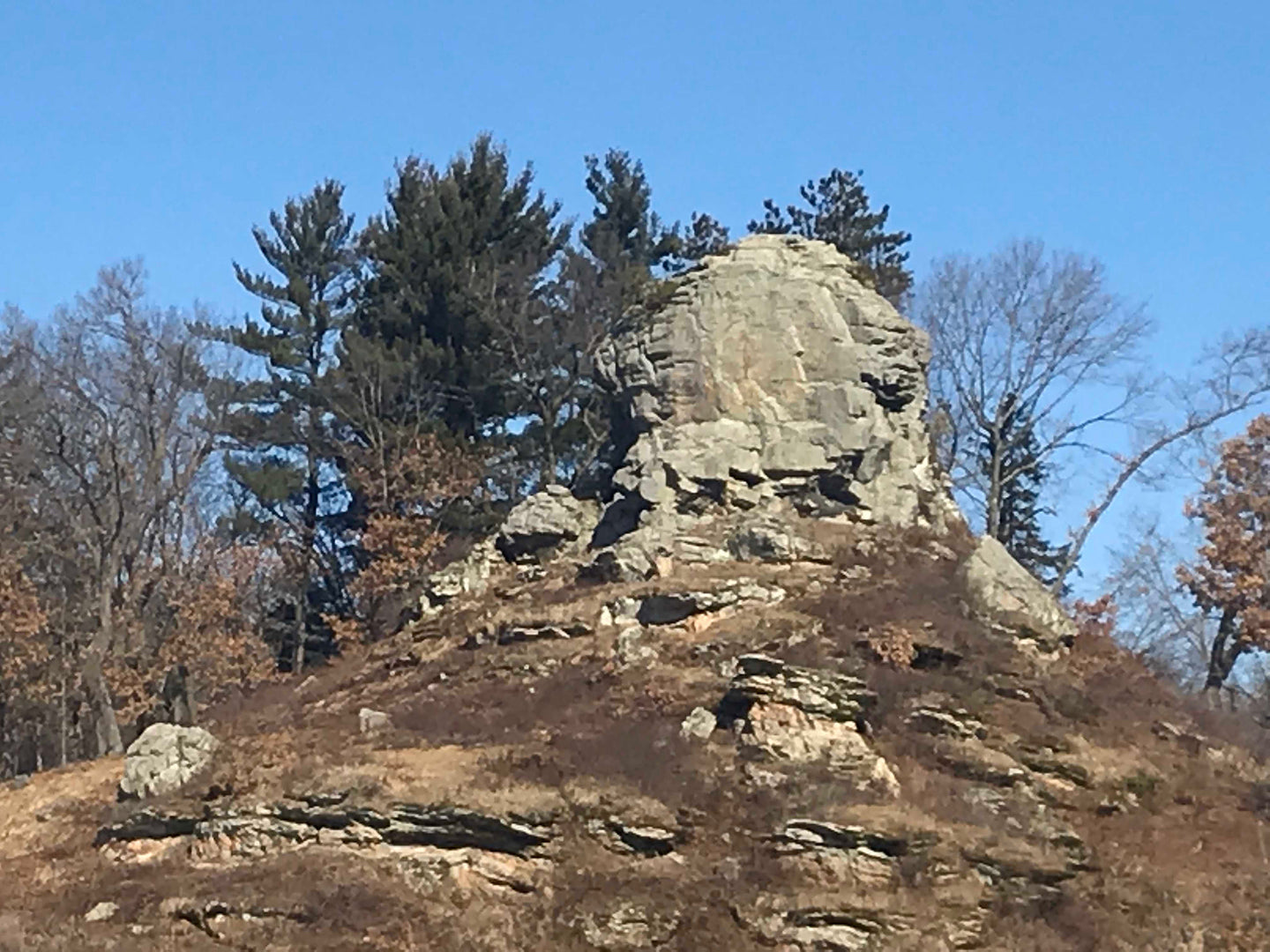 Donald Rock is an emblem of Donald Park near Mt. Vernon, Wisconsin