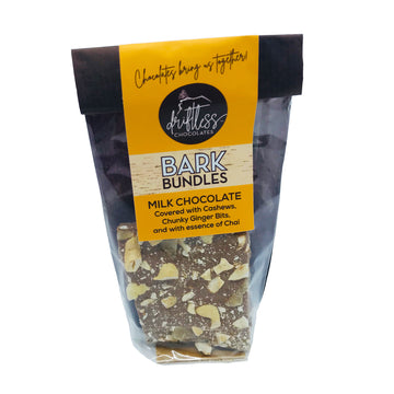 Bark Bundle Snack - Ginger, Cashews and Chai in Milk Chocolate