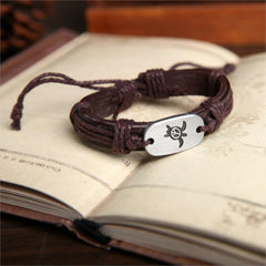 Outstanding Handmade Leather Charm Bracelet